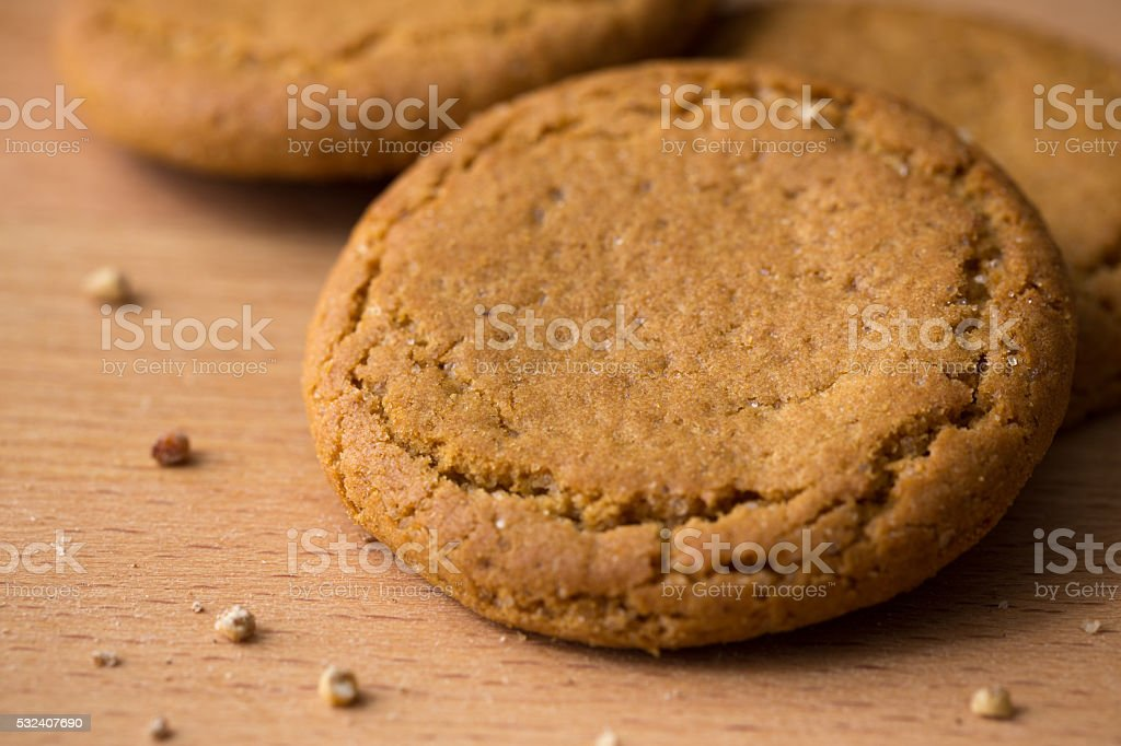 Ginger cookie stock photo