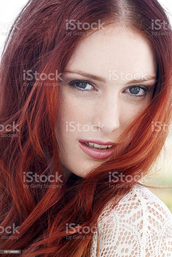 Ginger goddess! royalty-free stock photo