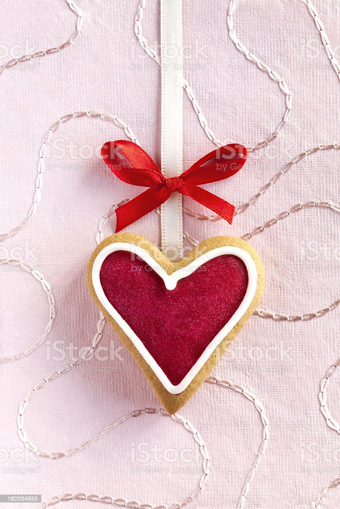 Ginger Heart for Valentine's and Wedding Day. royalty-free stock photo