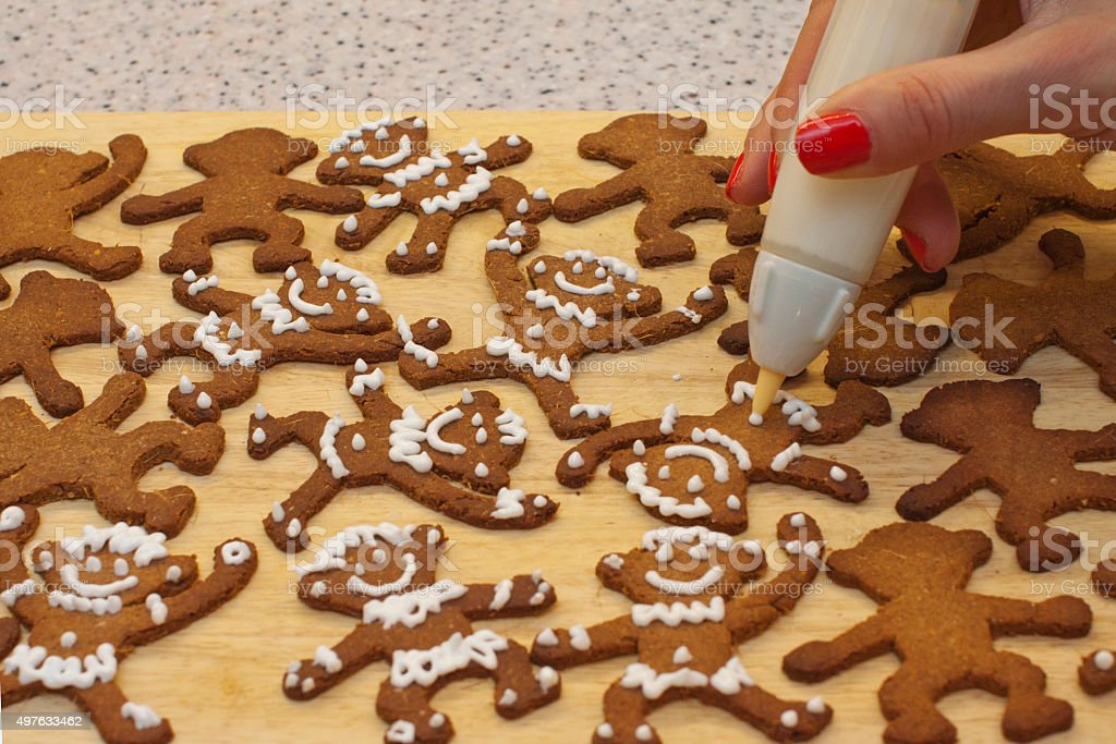 Ginger monkeys stock photo