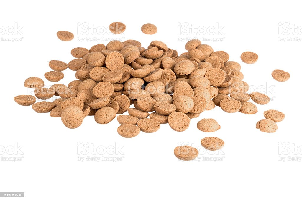 Ginger nuts, Dutch sweets at 5 december Sinterklaas party stock photo