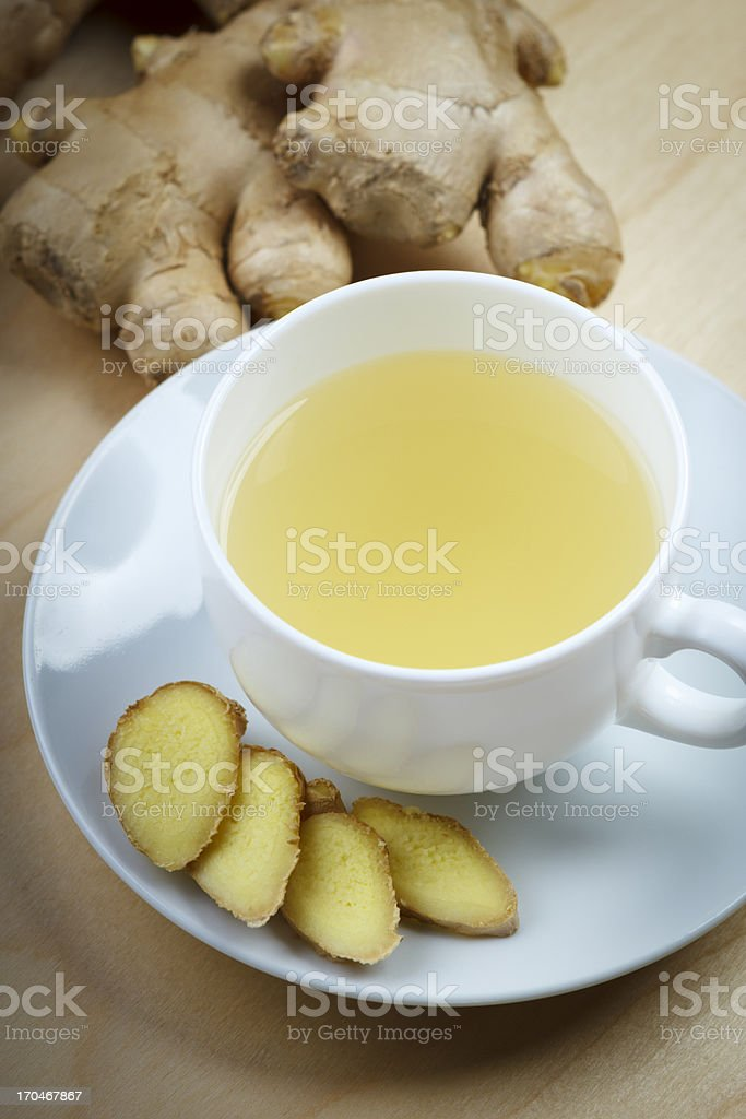 ginger root tea stock photo
