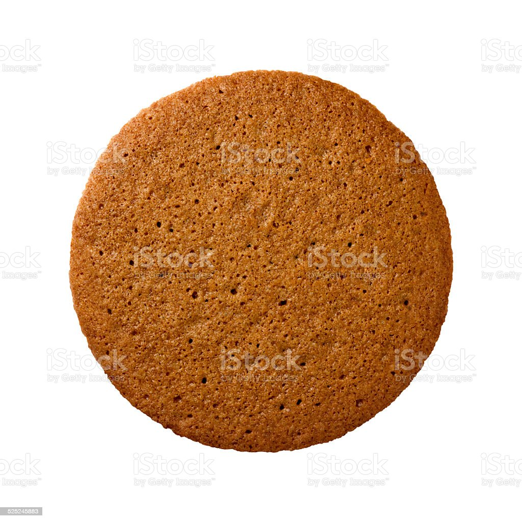 Ginger Snap Cookie isolated stock photo
