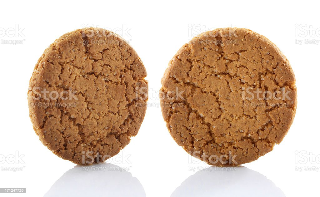 Ginger Snap cookie stock photo