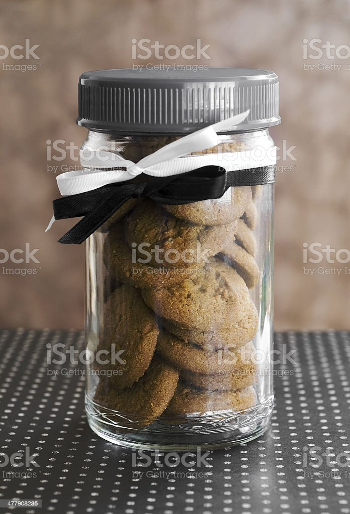 ginger snaps in jar stock photo
