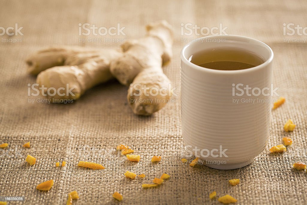 Ginger Tea Cup stock photo