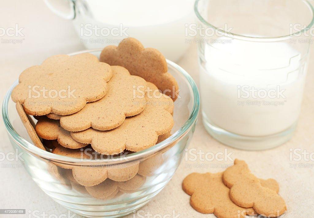 Pain d'épice et de lait photo libre de droits