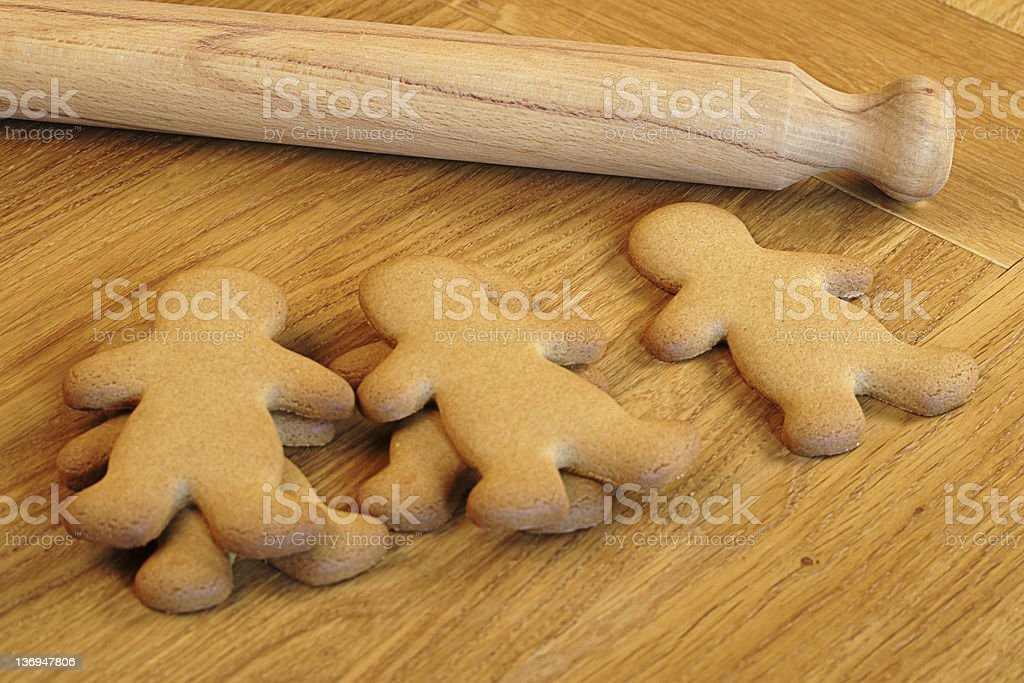 Gingerbread Baking royalty-free stock photo