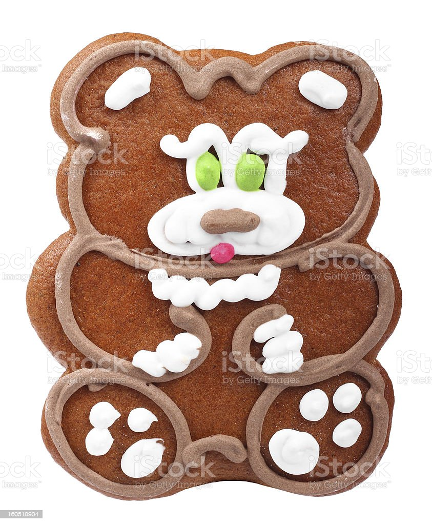 gingerbread bear royalty-free stock photo