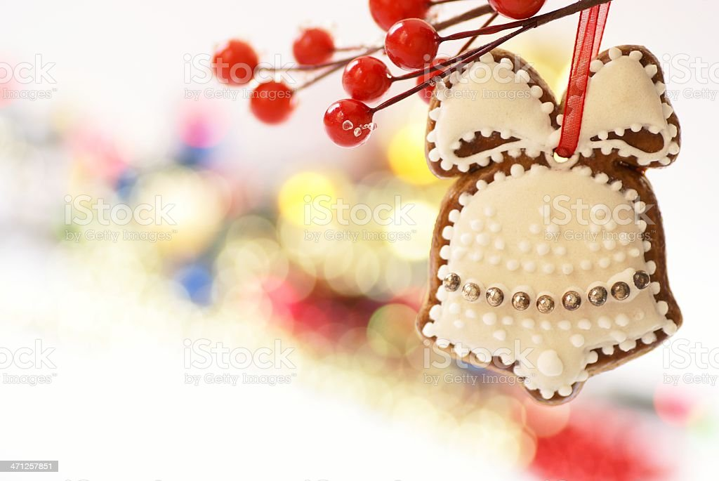 Gingerbread bell royalty-free stock photo
