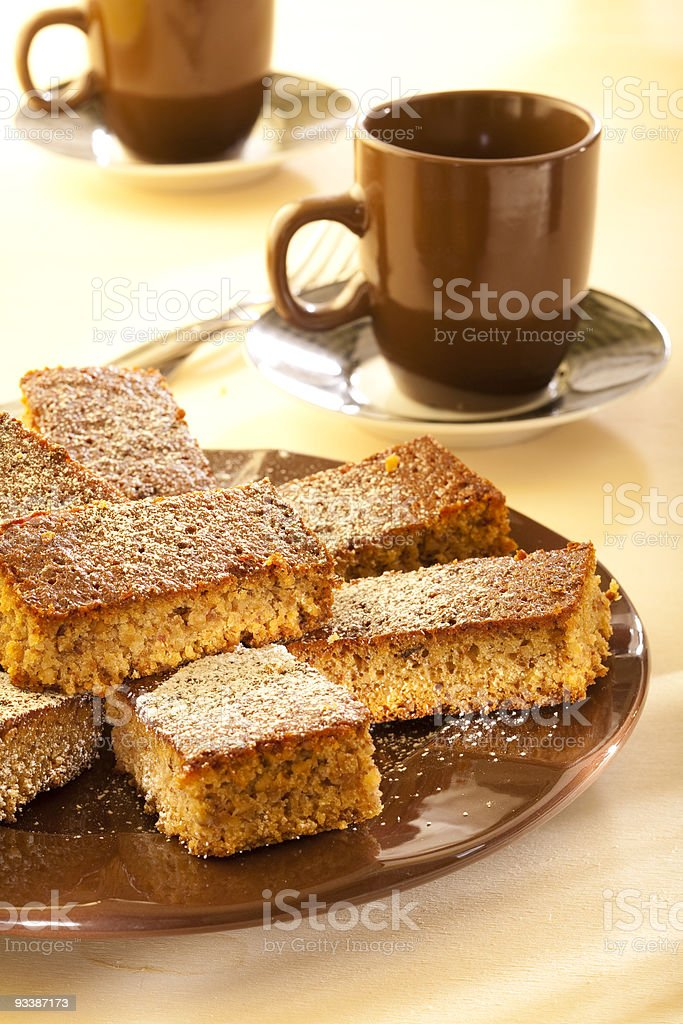 Gingerbread cake stock photo