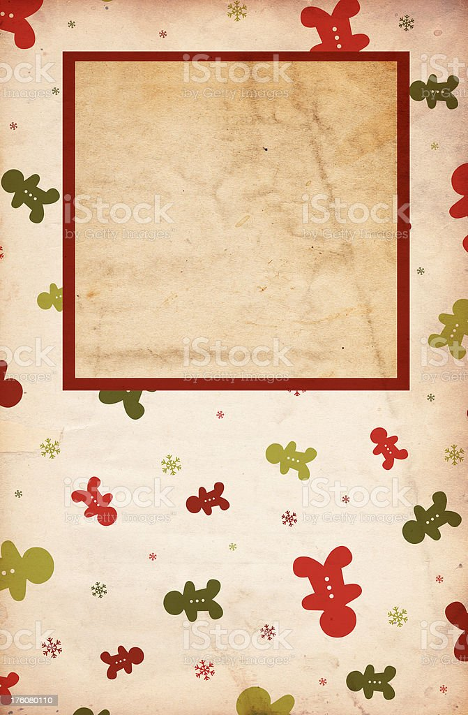 Gingerbread Christma Background stock photo