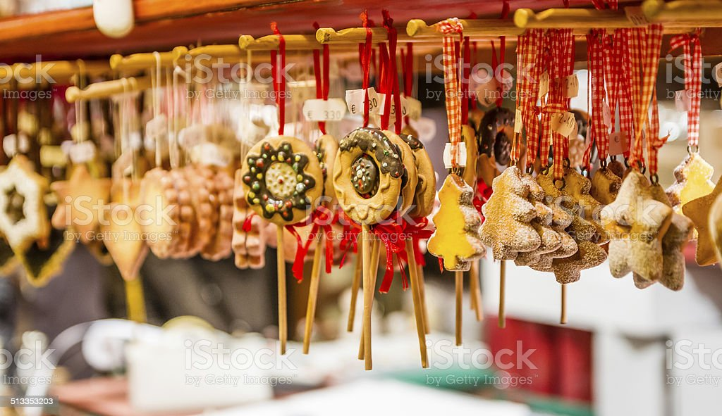 Gingerbread Christmas Ornaments stock photo