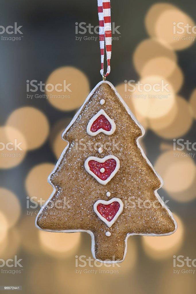 Gingerbread Christmas tree ornament royalty-free stock photo