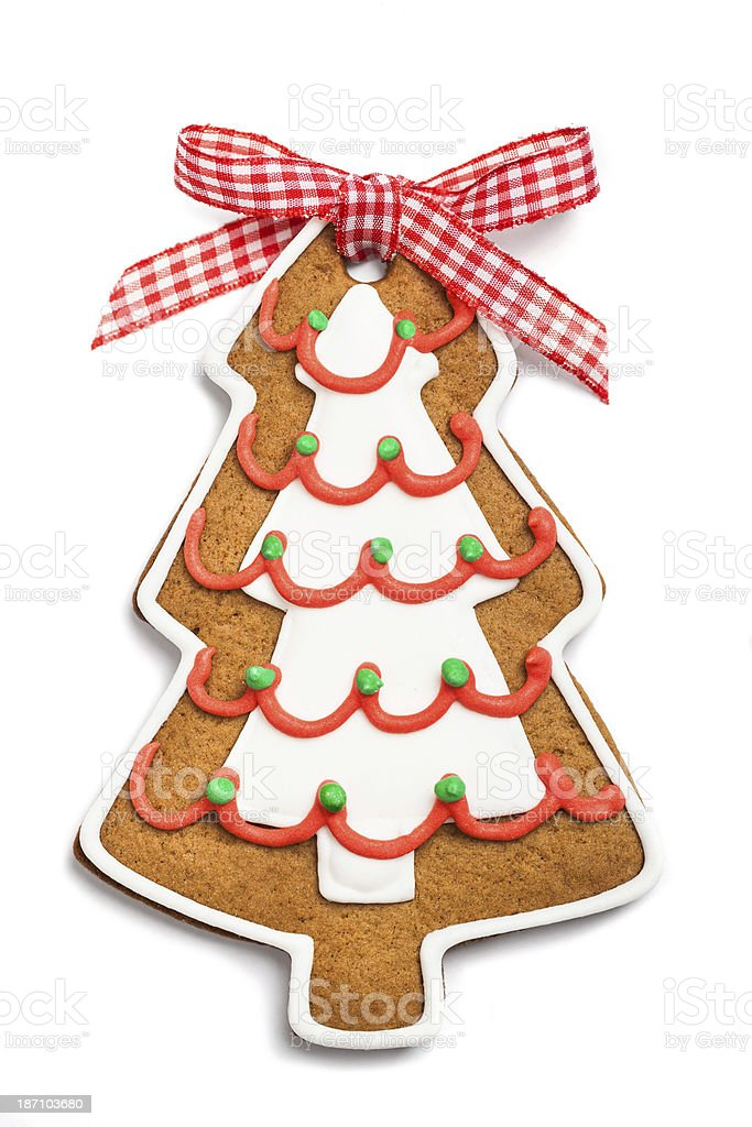 Gingerbread christmas tree royalty-free stock photo