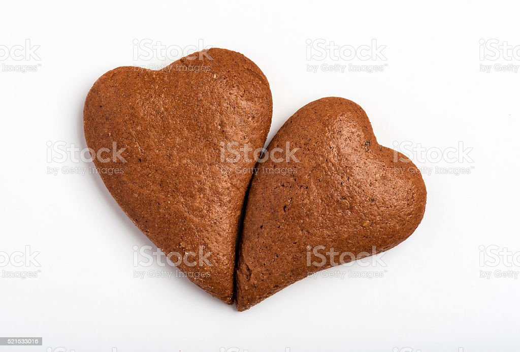 Gingerbread Cookie Heart Shape stock photo