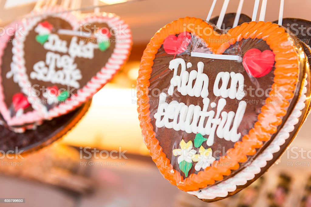 Gingerbread cookie in Austria stock photo