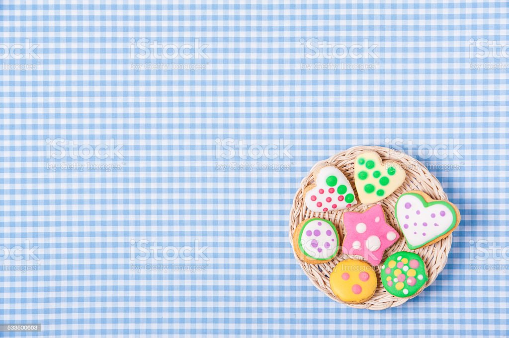 Gingerbread cookies background stock photo