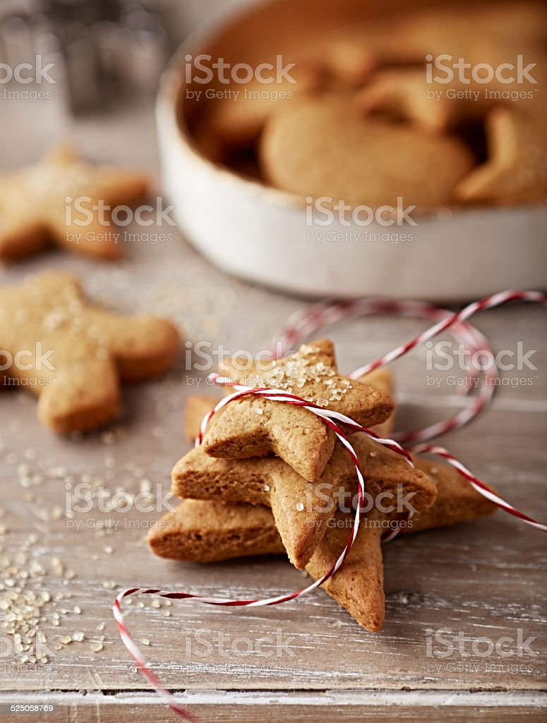 Gingerbread cookies to give as a gift stock photo