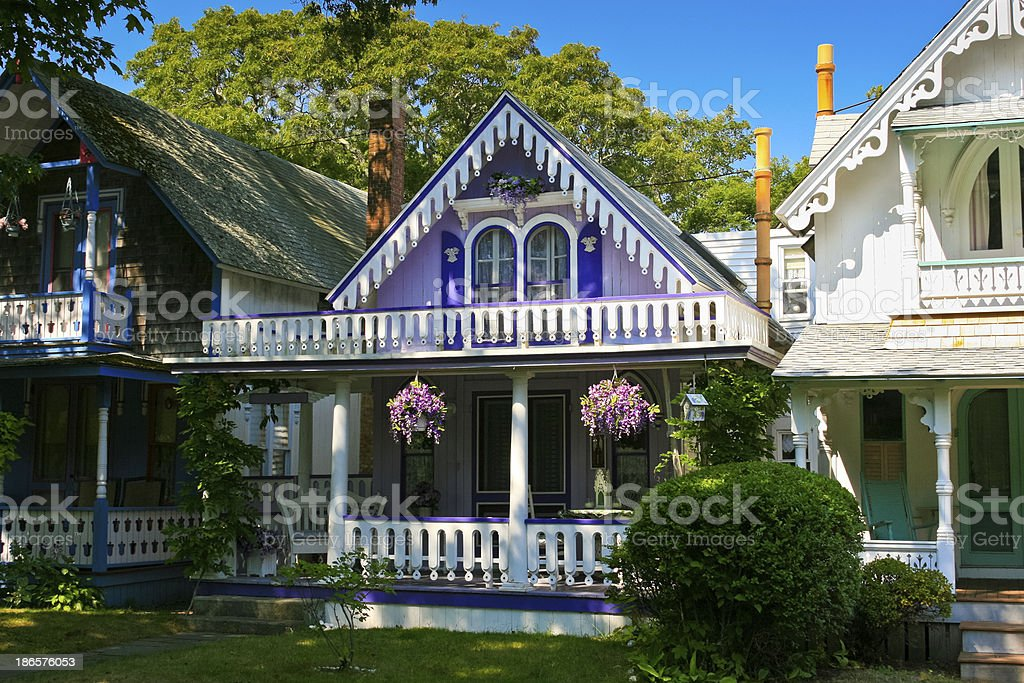 Gingerbread Cottages, Martha's Vineyard. royalty-free stock photo