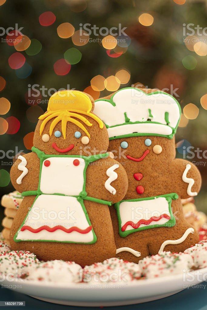Gingerbread Couple stock photo