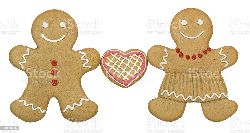 Gingerbread couple royalty-free stock photo