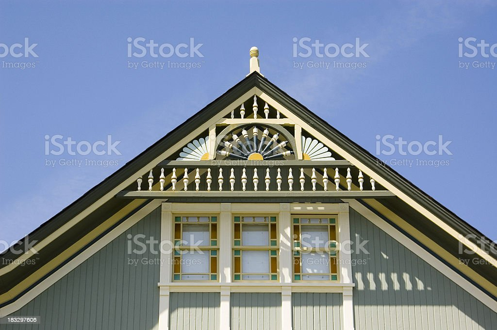 Gingerbread Detail on Victorian House stock photo