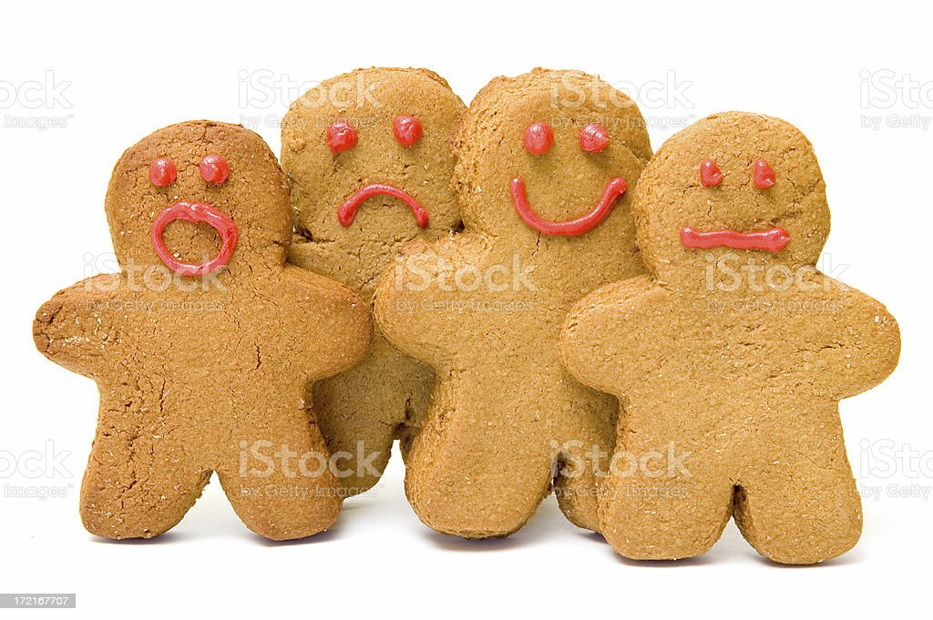 Gingerbread Emotions royalty-free stock photo