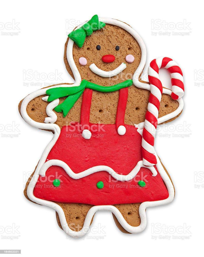 Gingerbread girl stock photo