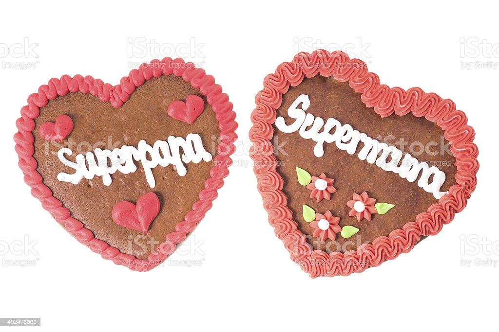 Gingerbread Heart stock photo