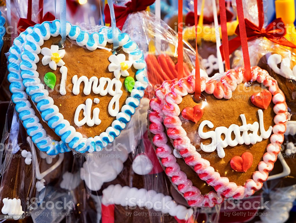 gingerbread heart stock photo