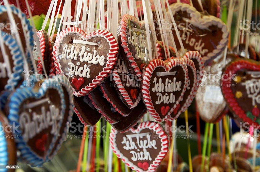 Gingerbread Hearts royalty-free stock photo
