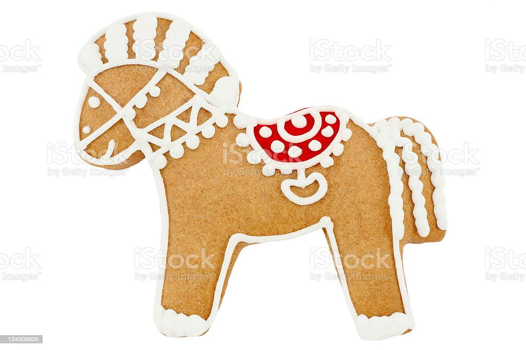 Gingerbread horse stock photo