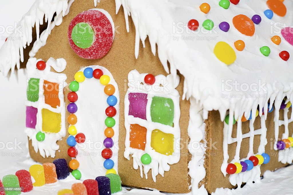 Gingerbread House Close-up royalty-free stock photo