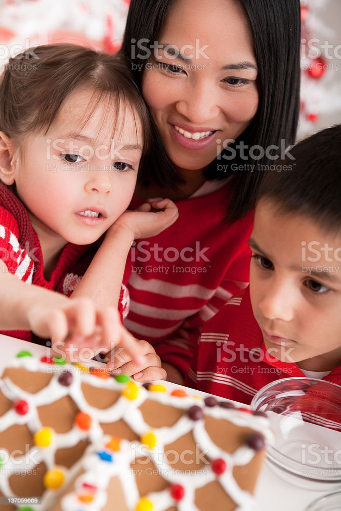 Gingerbread House fun royalty-free stock photo