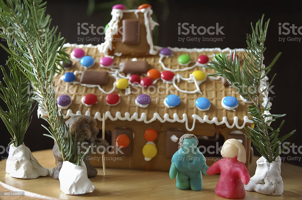 gingerbread house Hansel and Gretel stock photo