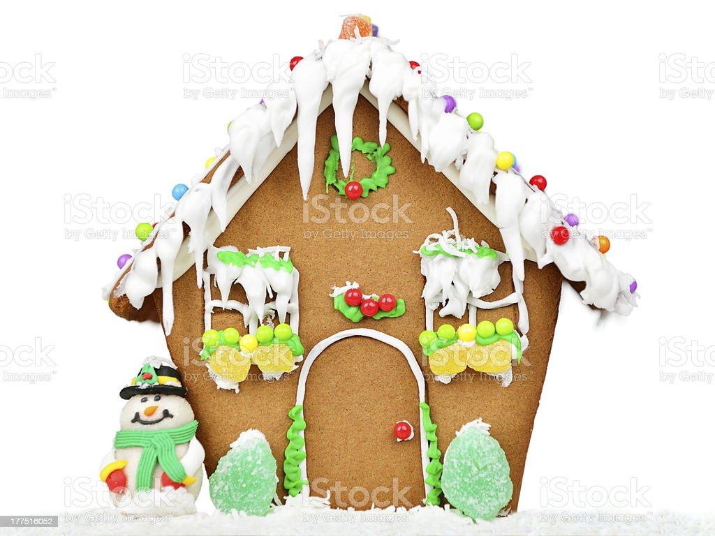 Gingerbread house isolated royalty-free stock photo