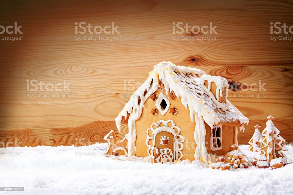 Gingerbread house. stock photo