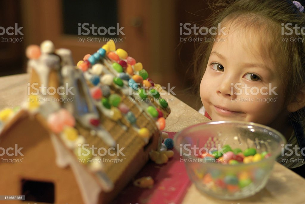 Gingerbread Kid royalty-free stock photo