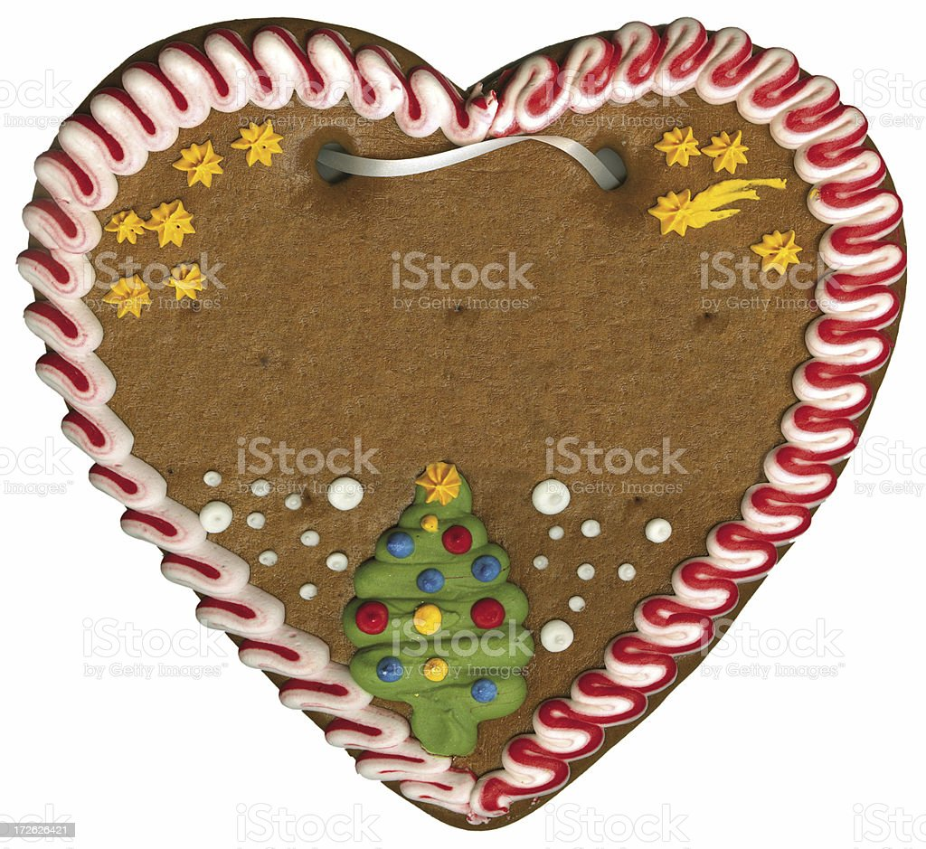 gingerbread lebkuchen heart for christmas royalty-free stock photo