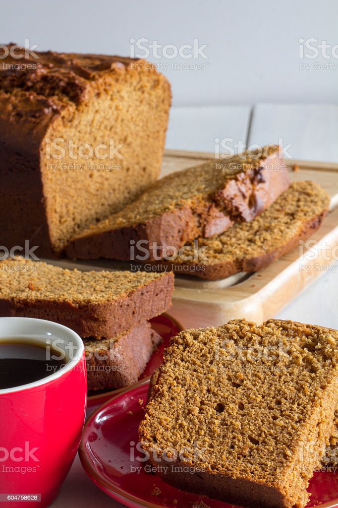 Gingerbread Loaf Vertical on White stock photo