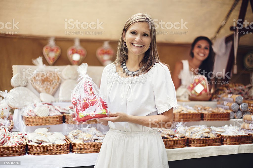 Gingerbread maker stock photo
