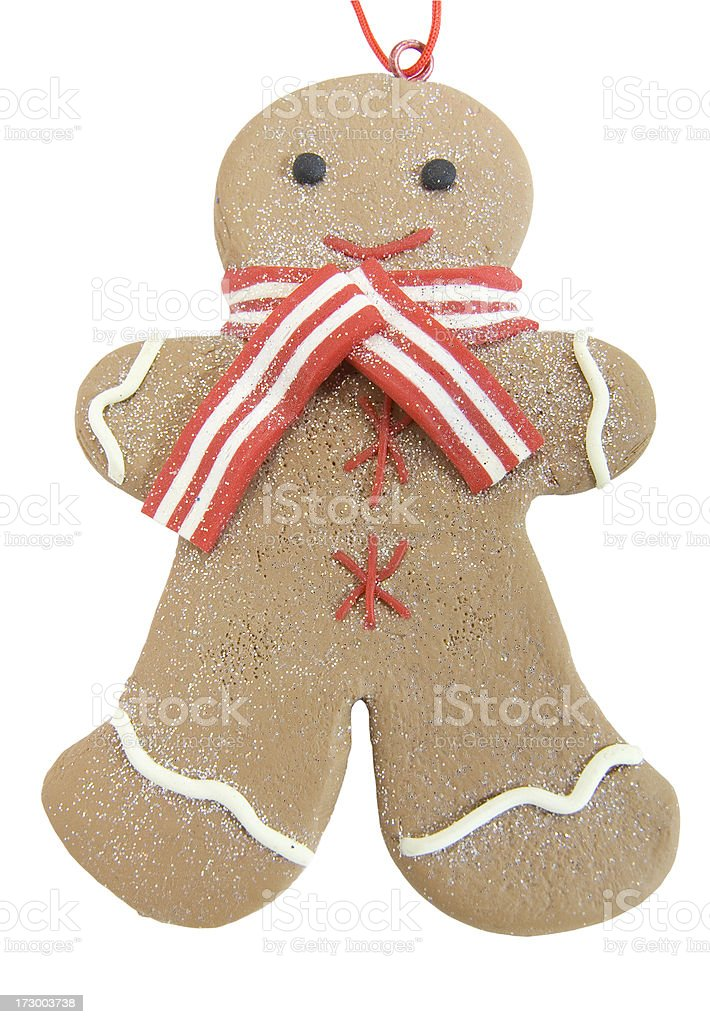 Gingerbread man bauble royalty-free stock photo