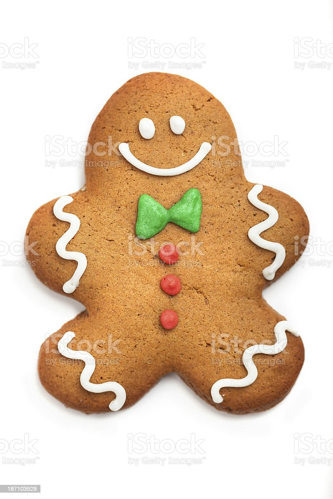 Gingerbread man cookie royalty-free stock photo