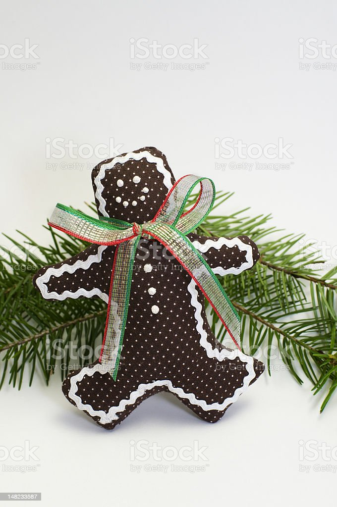 Gingerbread Man Decoration stock photo