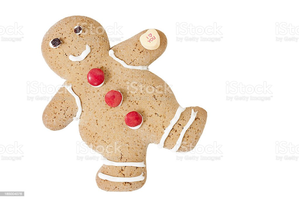 Gingerbread Man in Love royalty-free stock photo