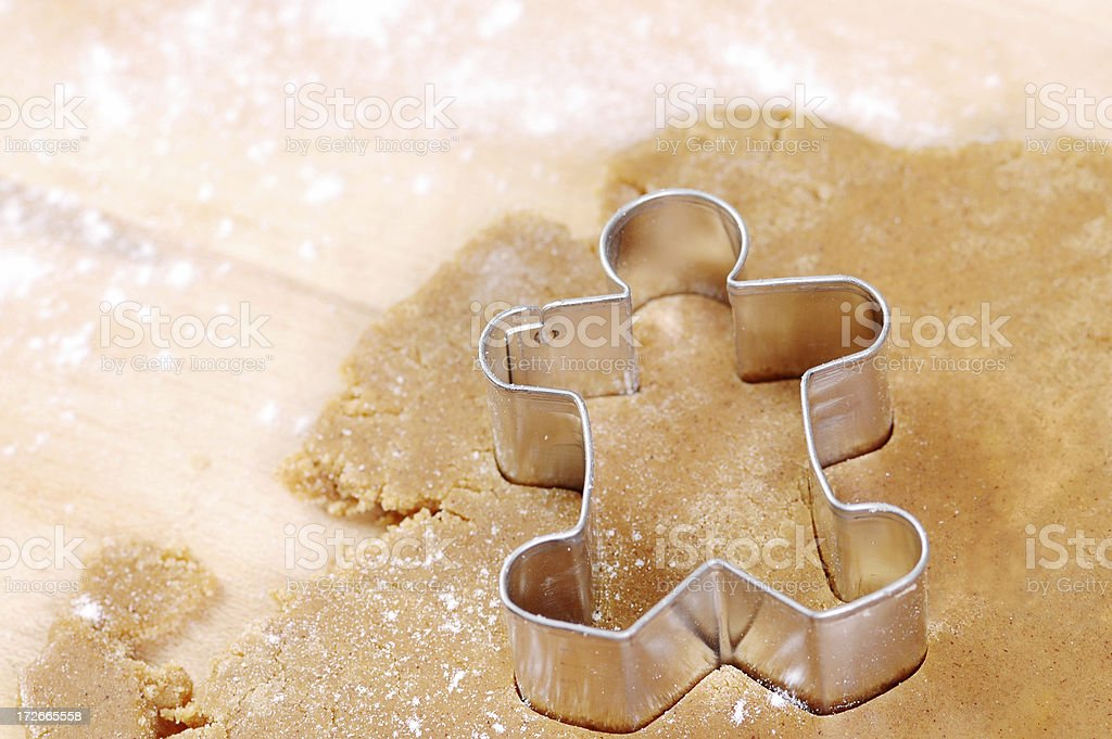 Gingerbread Man in Process royalty-free stock photo