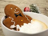 gingerbread man in the bathtub