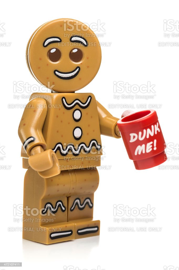 Gingerbread Man Lego Minifigure royalty-free stock photo