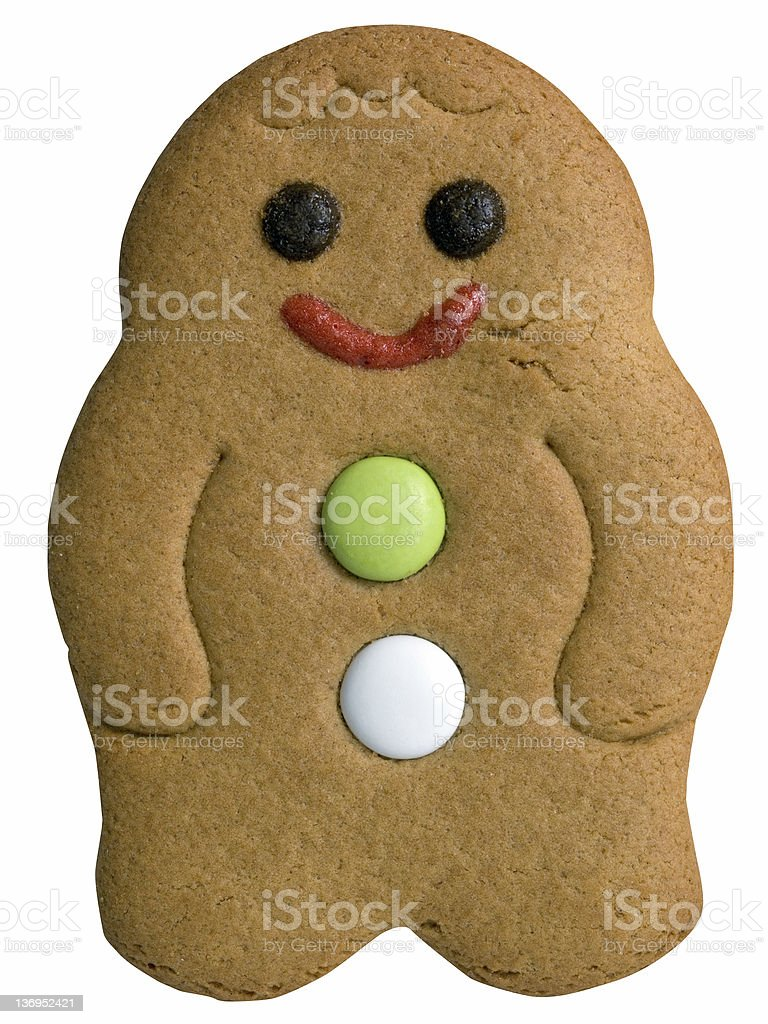Gingerbread Man (With Clipping Path) royalty-free stock photo